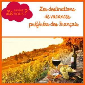 destination de vacances préférées des français